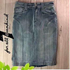 7 for all mankind Jean Denim Skirt Size 25